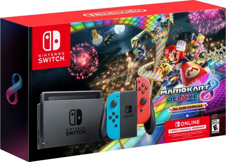 Imagen del premio: Nintendo Switch Neon + Mario Kart 8 + 3 Meses de Suscripción a Nintendo Switch Online